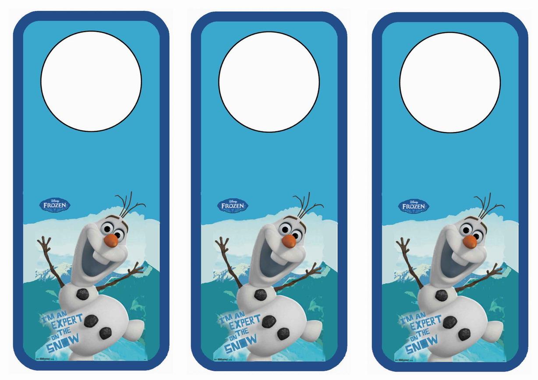 7 Images of Frozen Free Printable Door Hangers