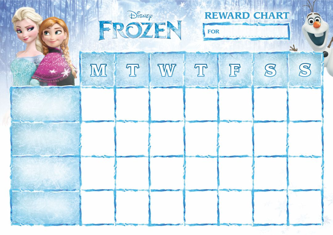 Frozen Printable Potty Training Chart