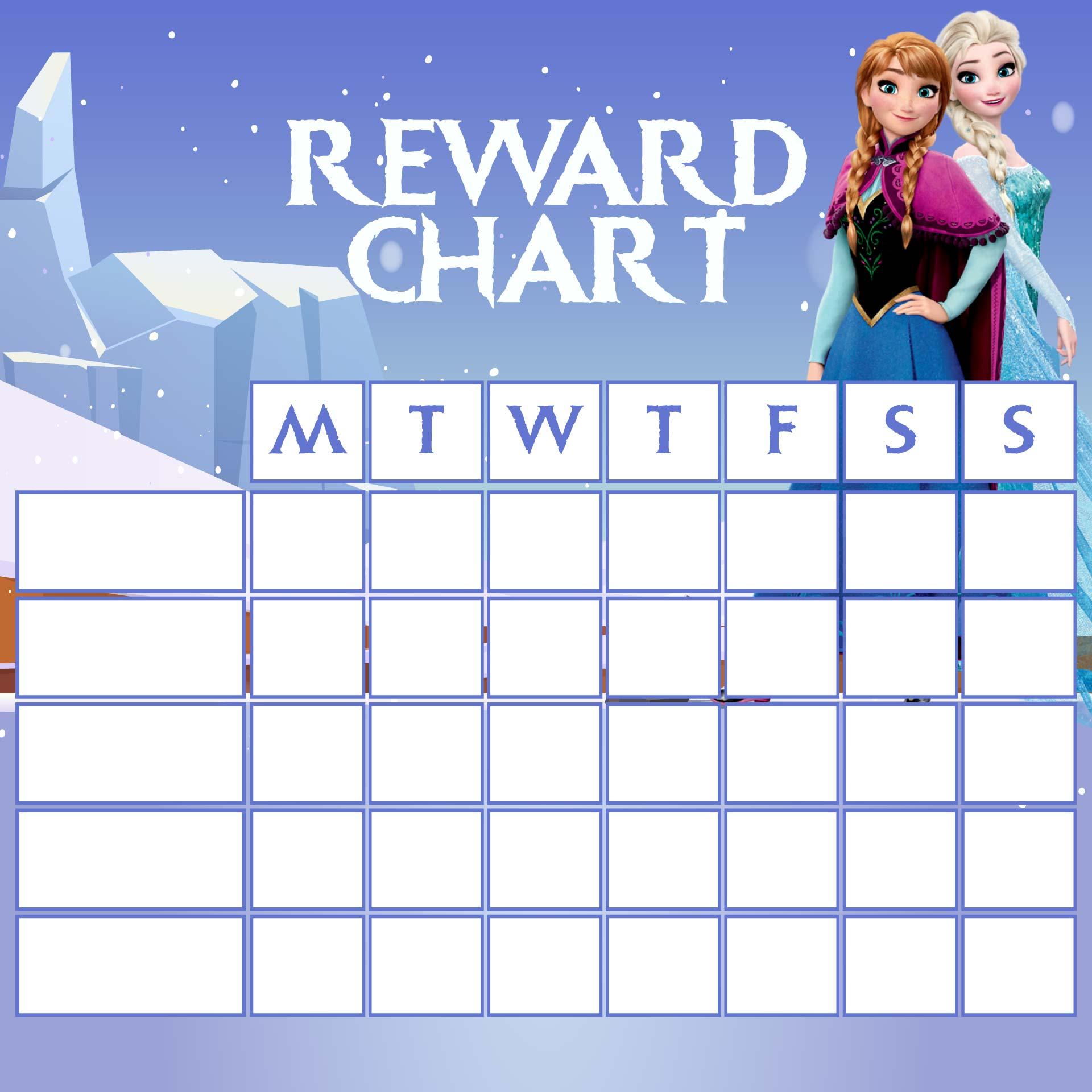 9 Best Images Of Frozen Printable Responsibility Charts