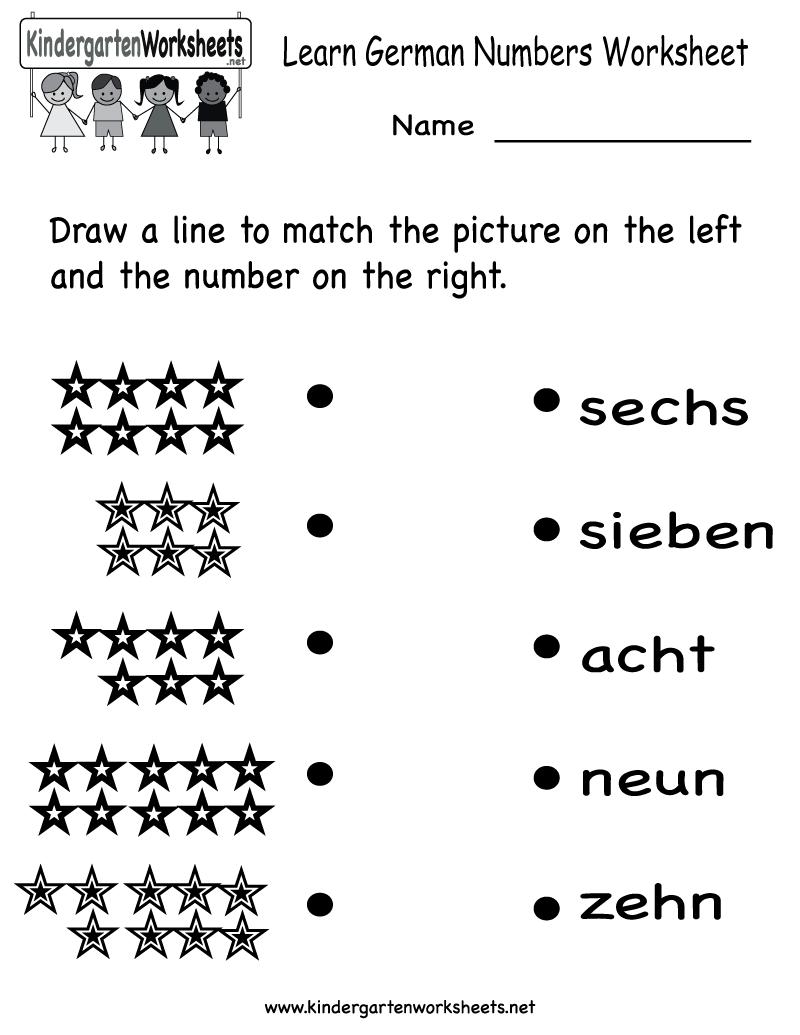 4 Best Images of Printable German Worksheets - Free Printable ...