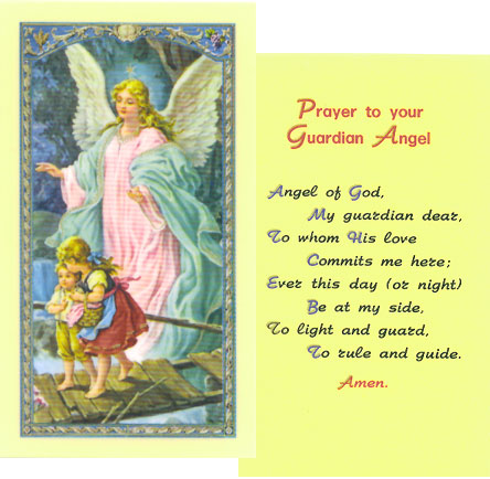 5 best images of angel cards printable free printable for Guardian angel prayer coloring page