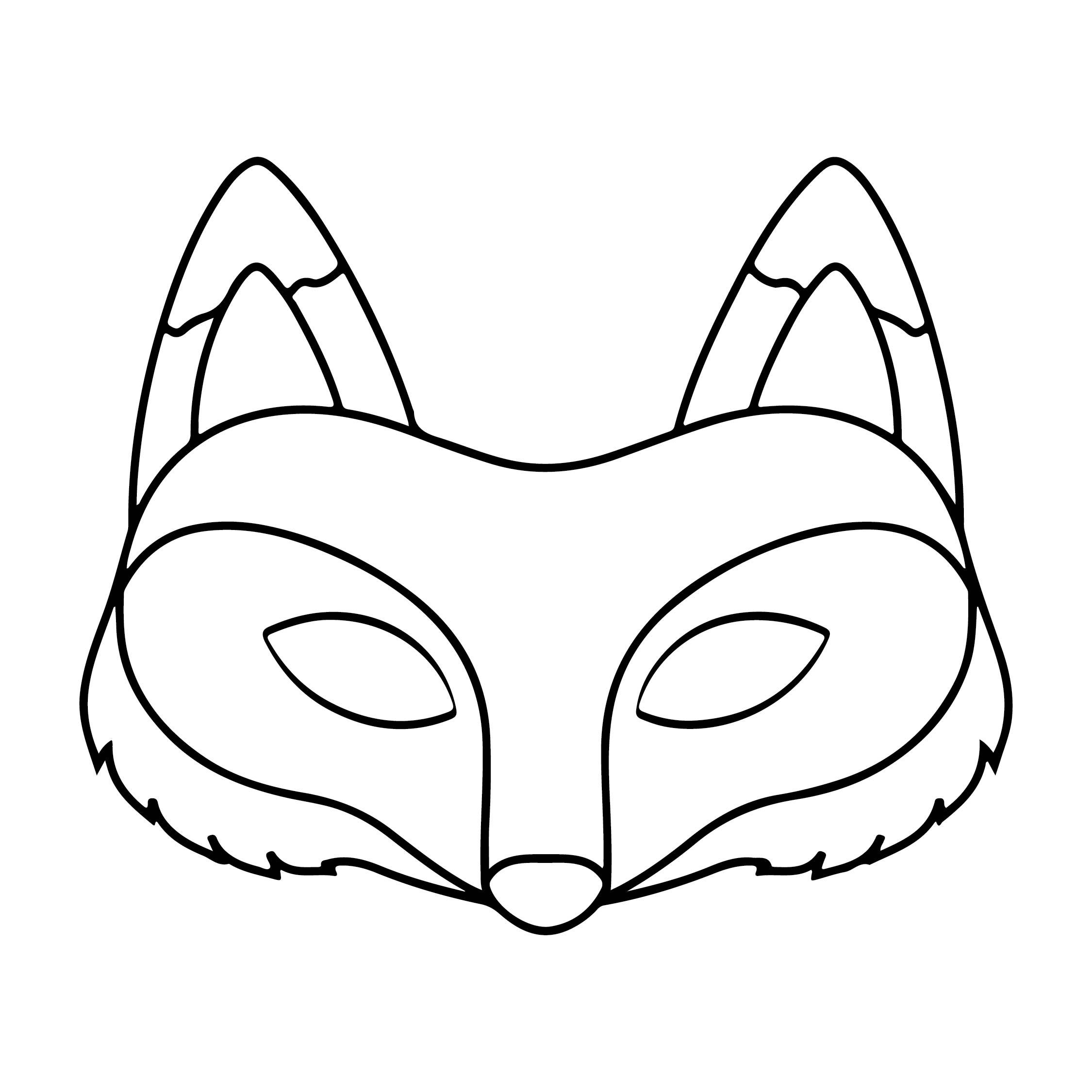 Halloween Animal Mask Template Printable