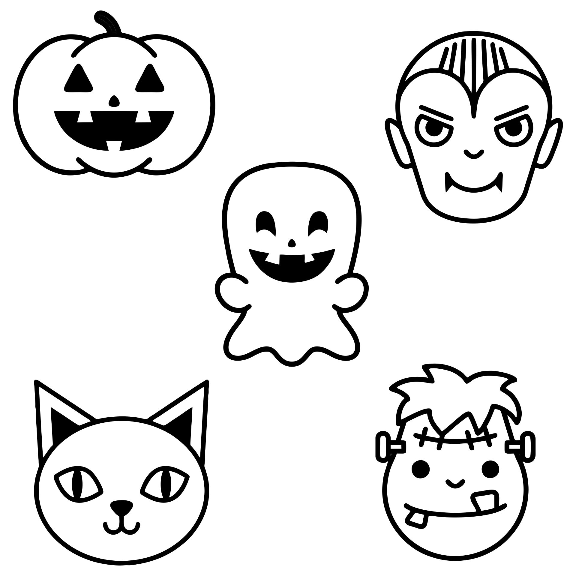 5 Images of Printable Halloween Templates Cut Out