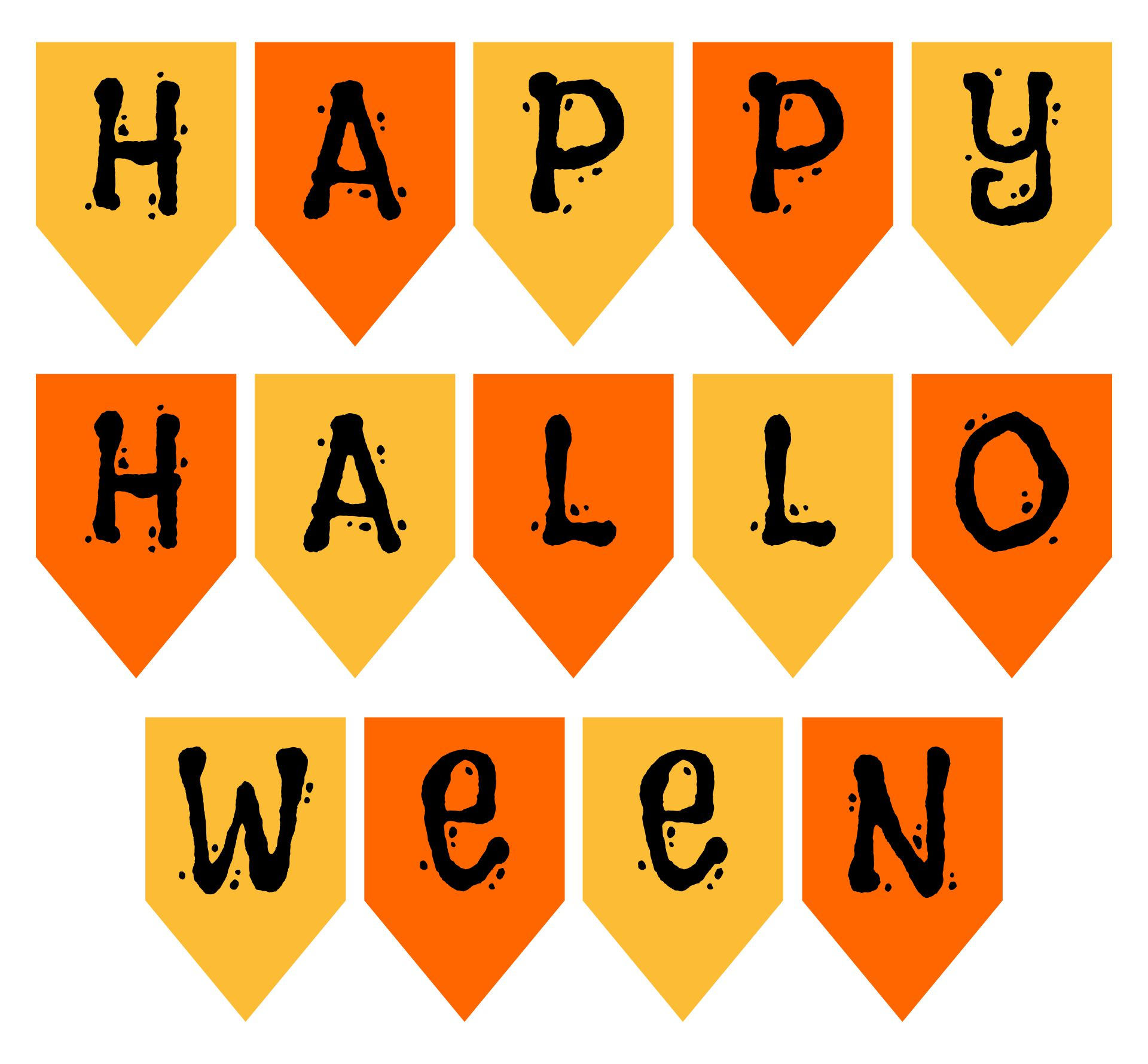 4 Images of Happy Halloween Banner Printable
