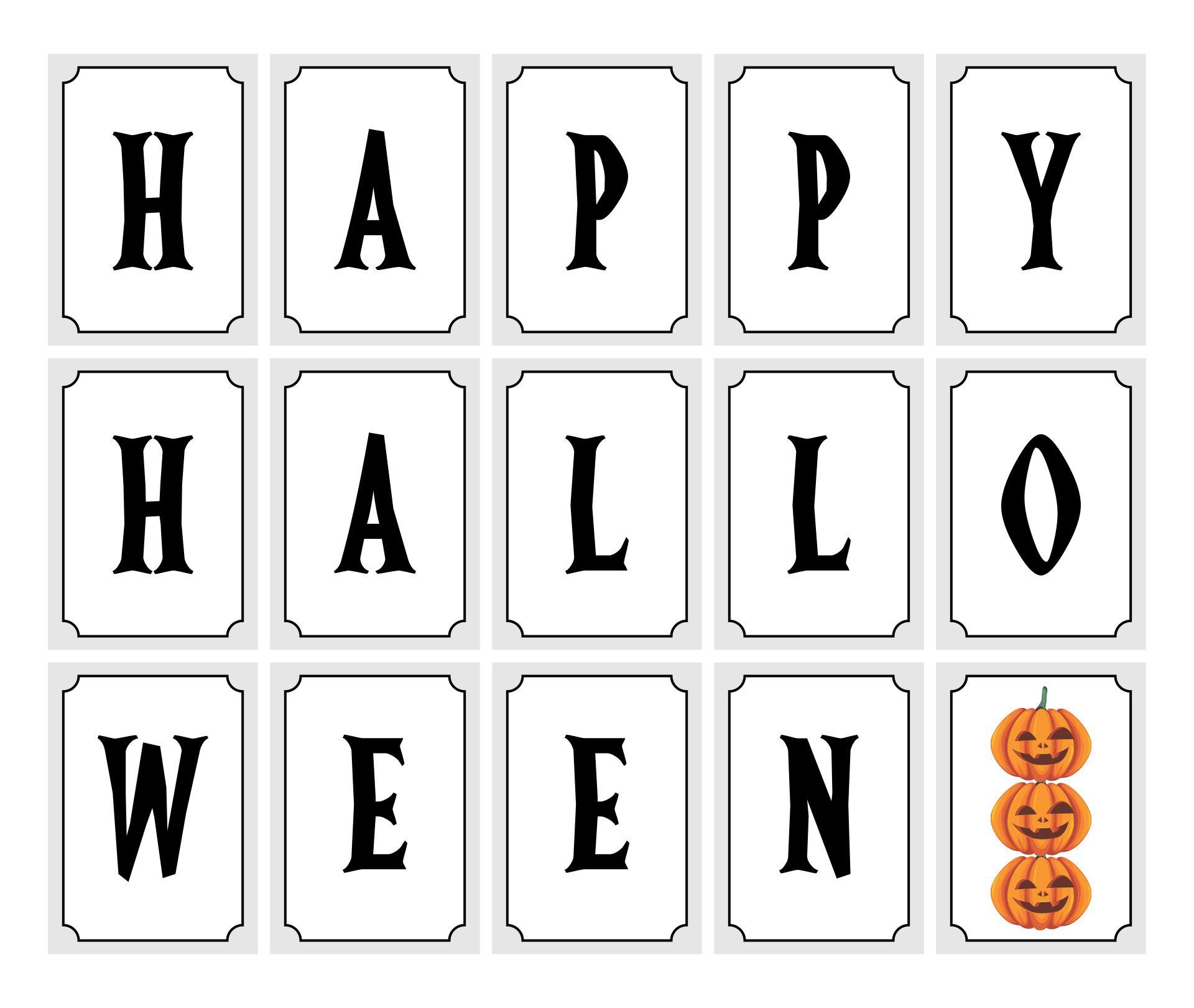 Happy Halloween Banner Printable Free