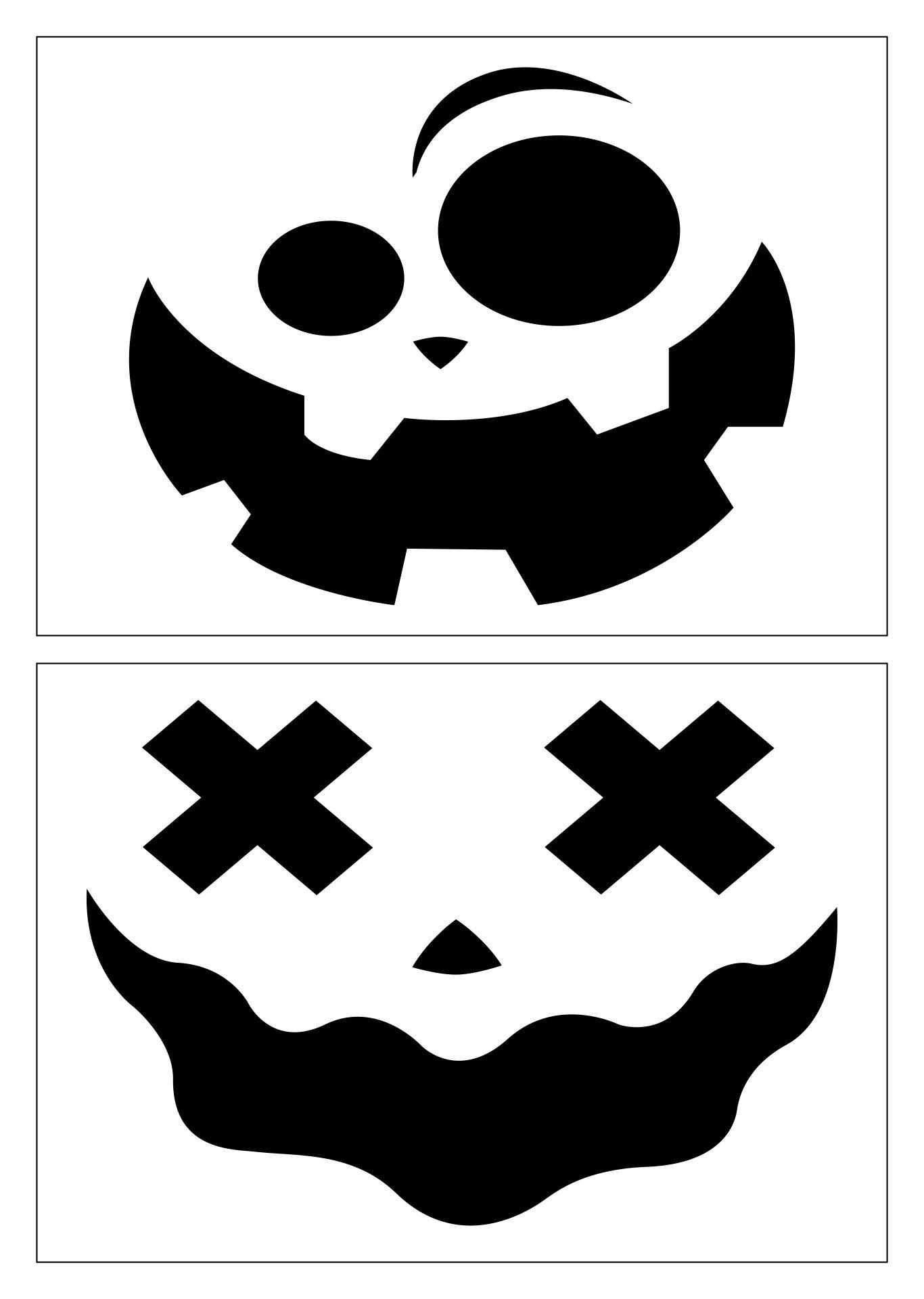 Happy Halloween Pumpkin Stencils Printable