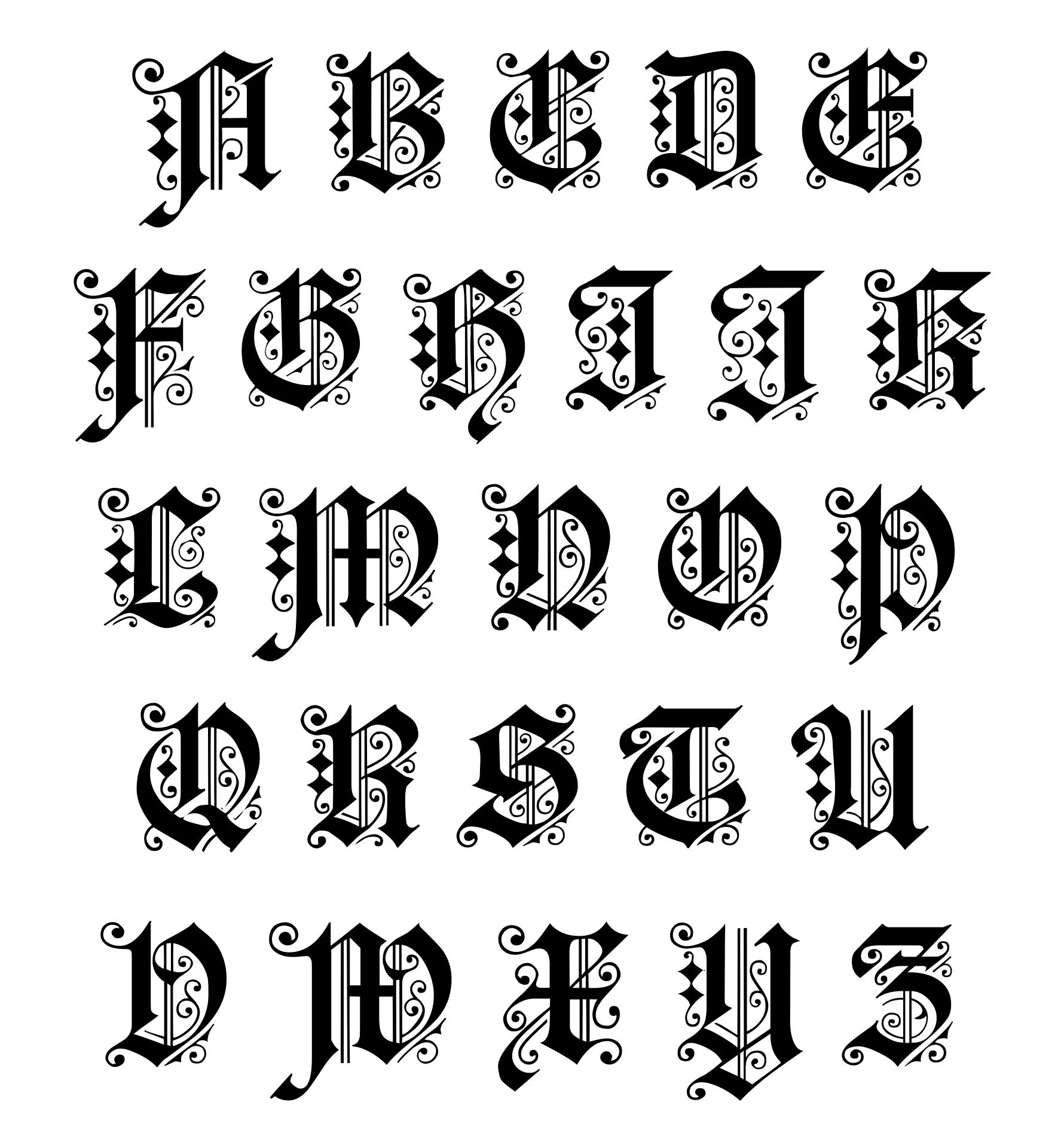 Illuminated Manuscript Alphabet Letters Printable