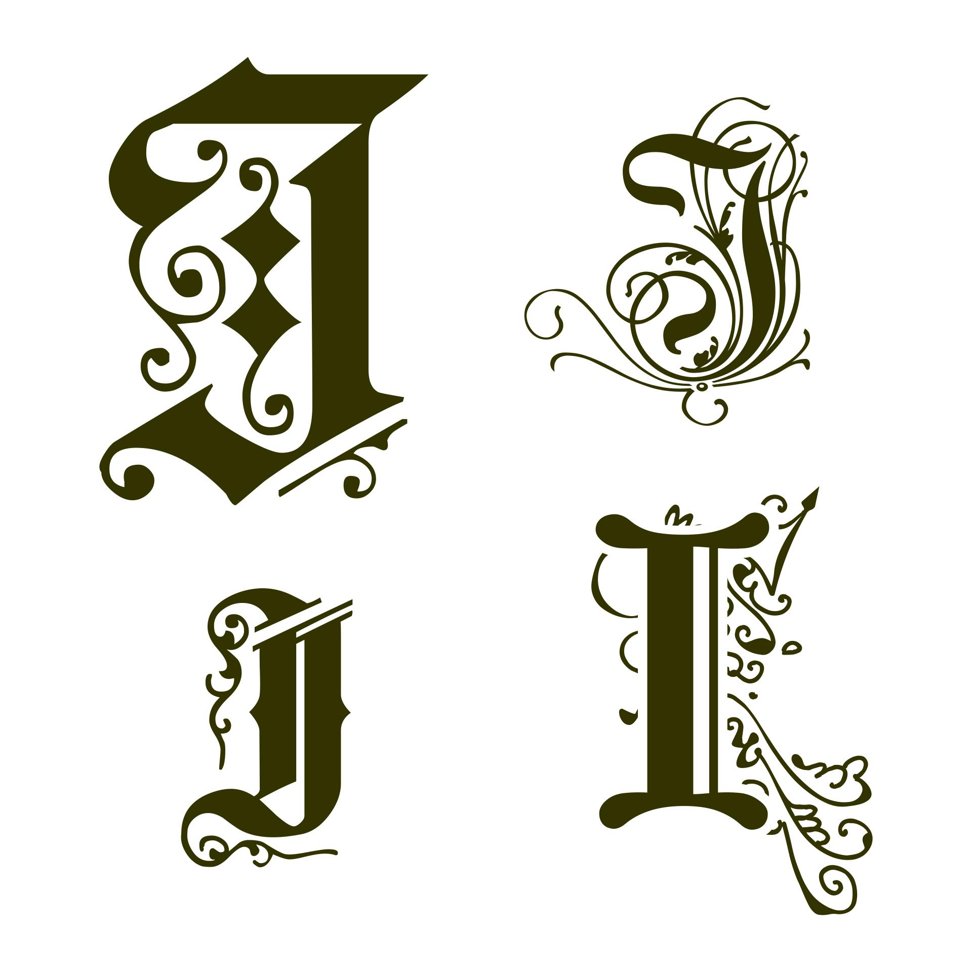 Illuminated Manuscript Letter I