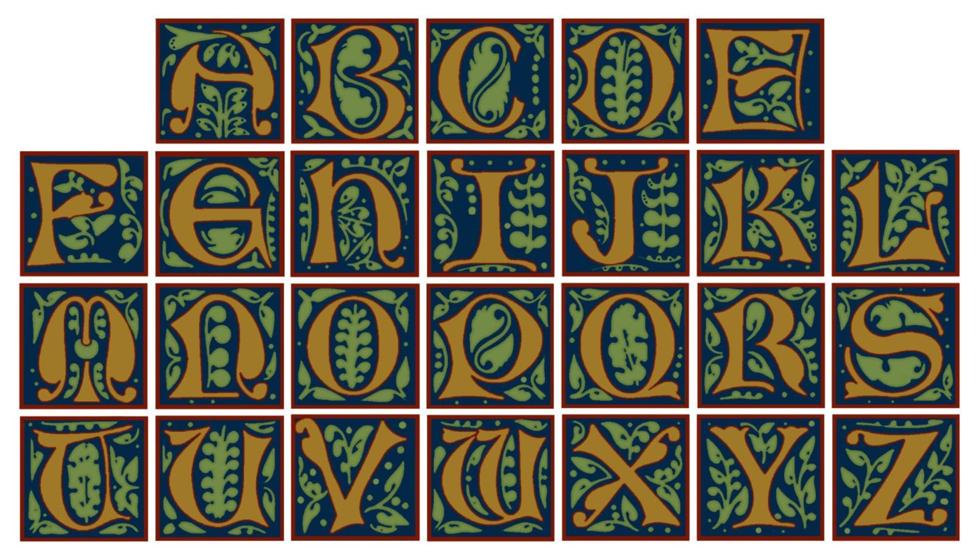 Illuminated Letter S Animal Design