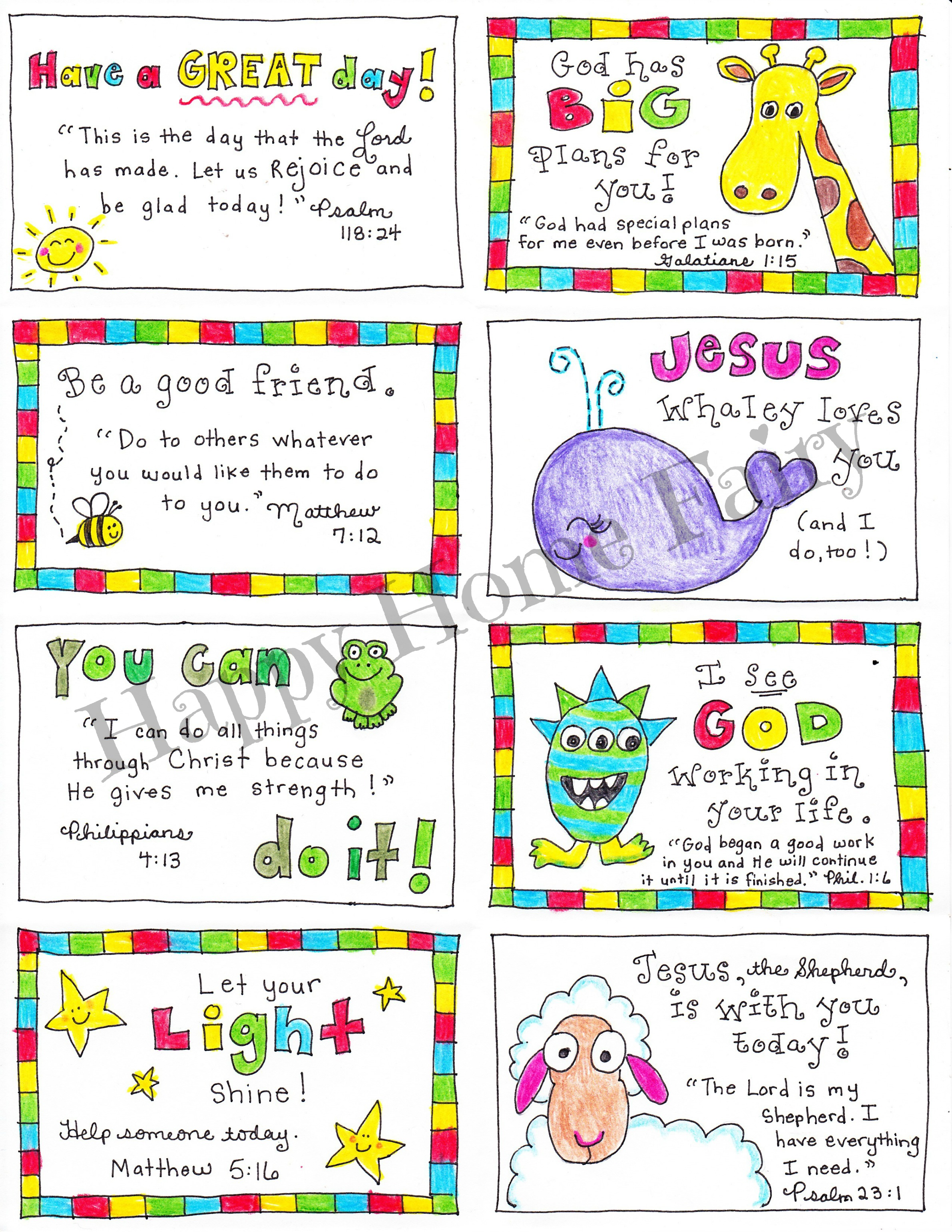 Inspirational Lunch Box Notes Printable