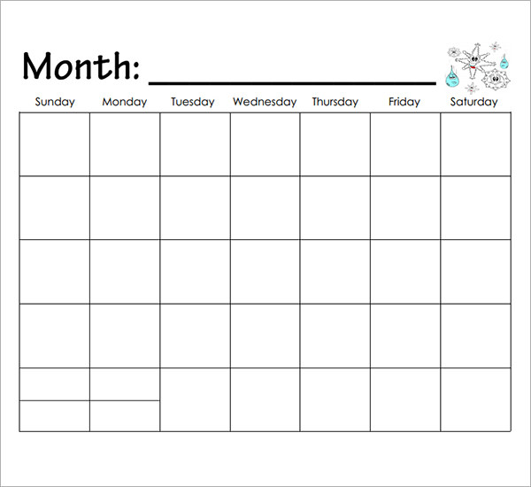 9 best images of kindergarten printable calendar month by for Kindergarten timetable template