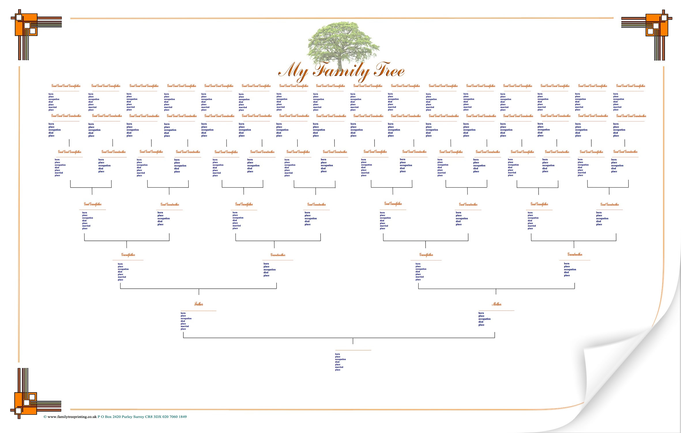 6 best images of family tree printable printable family tree template printable family tree