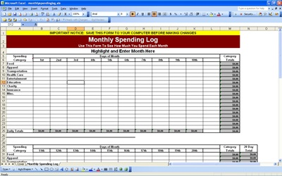 Doc1280800 Template for Monthly Expenses Household Expenses – Monthly Business Expenses Template