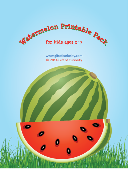 6 Images of Free Watermelon Printables