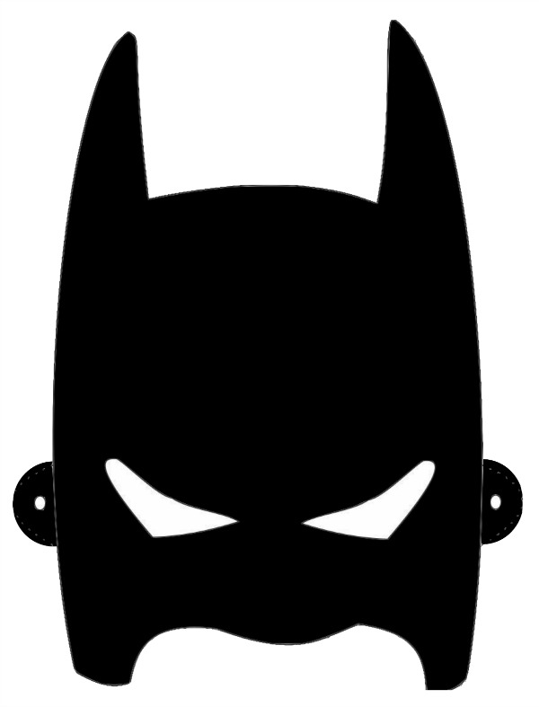 8 Images of Free Printable Batman Mask