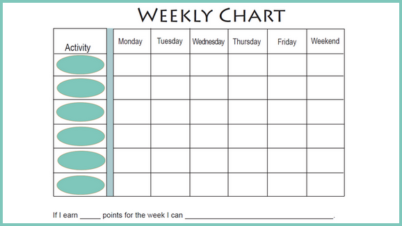 6 best images of free printable weekly charts printable daily weight loss chart free. Black Bedroom Furniture Sets. Home Design Ideas