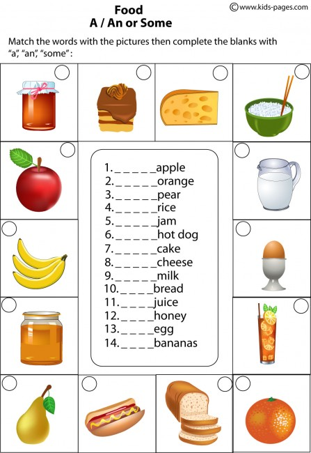 Food Worksheets For Preschoolers : Healthy food worksheets for kindergarten health and