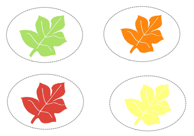 5 Images of Fall Leaves Colored Printables