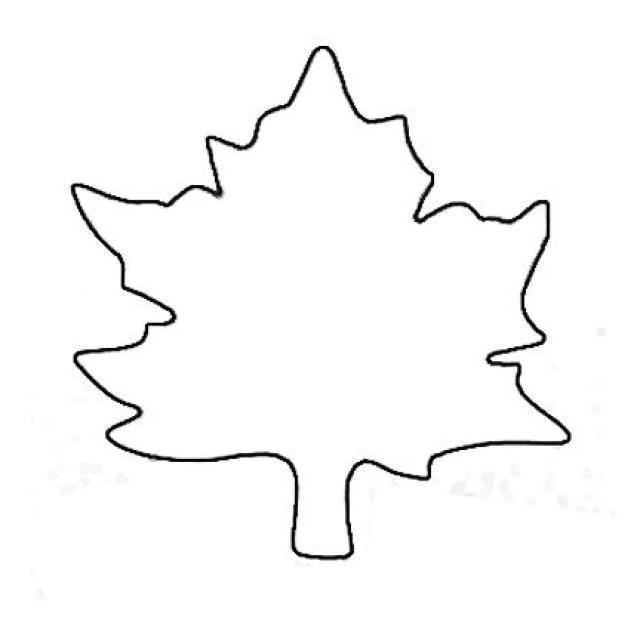 4 Images of Leaf Templates Printable PDF