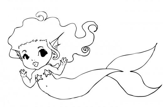 9 best images of cute printable mermaid templates flounder little mermaid printable template for Mermaid templates printable