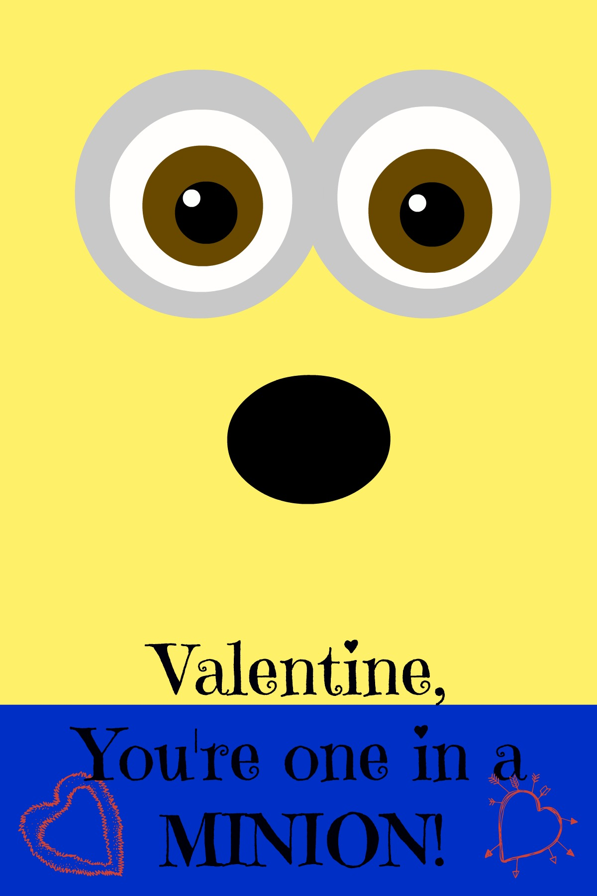 8 Images of Printable Minion Valentine