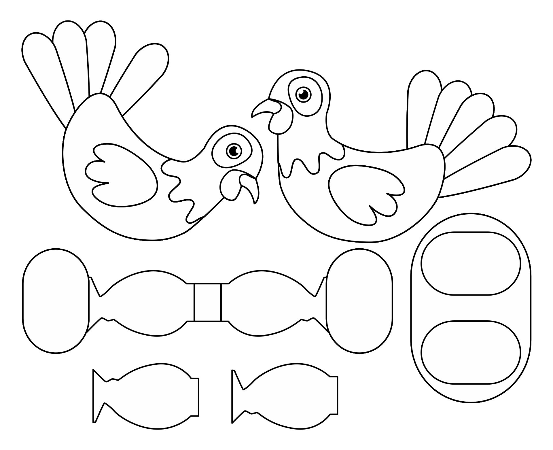 4 Best Images of Thanksgiving Turkey Cutouts Printable ...