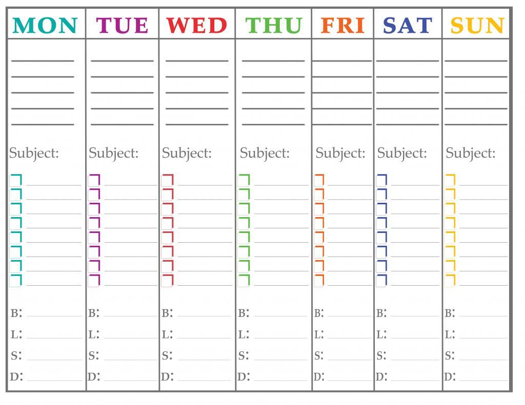 7 Images of Printable Organizer Calendar