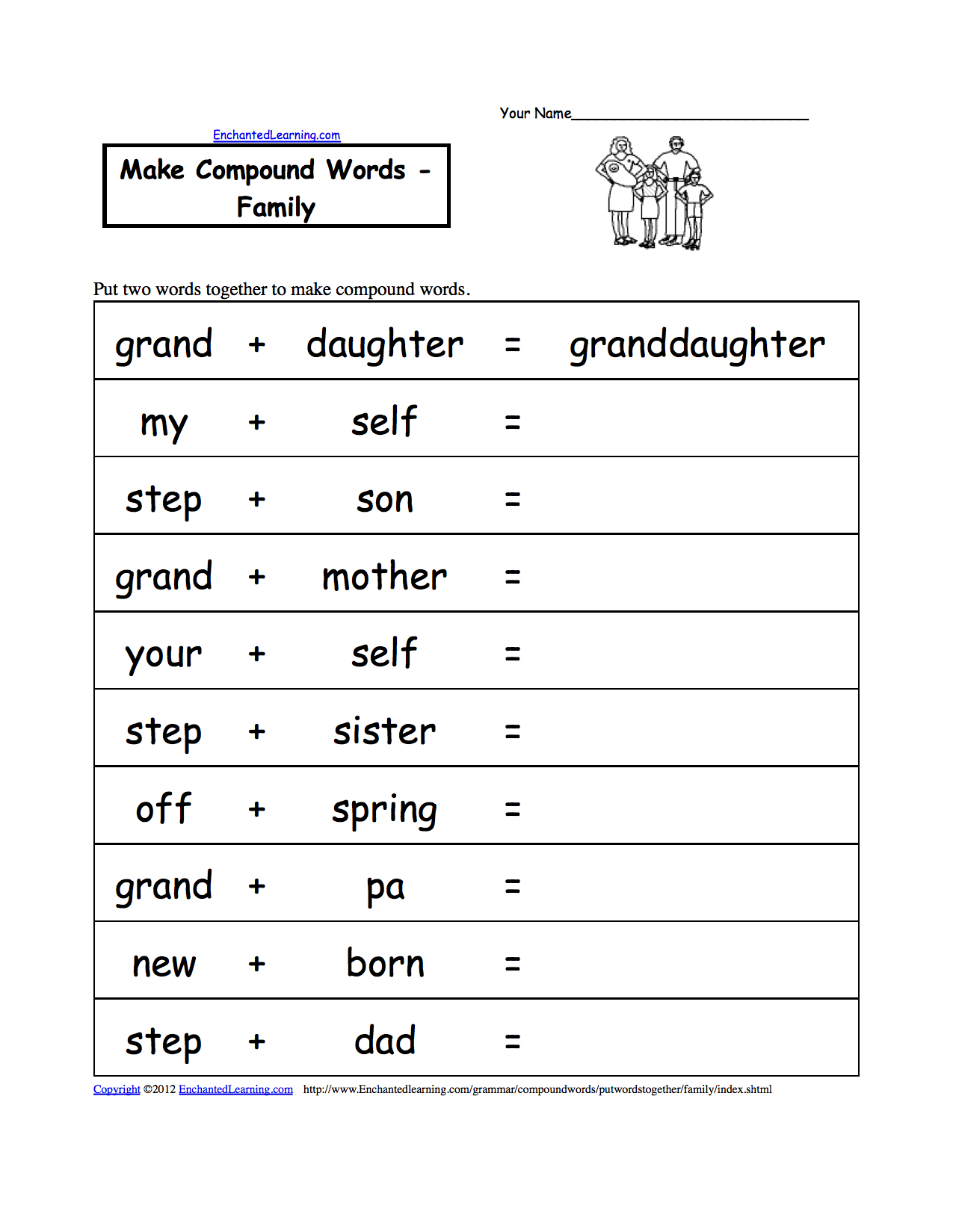Worksheets Word Family Worksheets Free 7 best images of printable worksheets about family spanish word worksheets