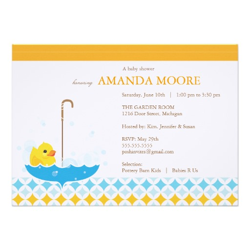 6 Images of Printable Rubber Ducky Invitations