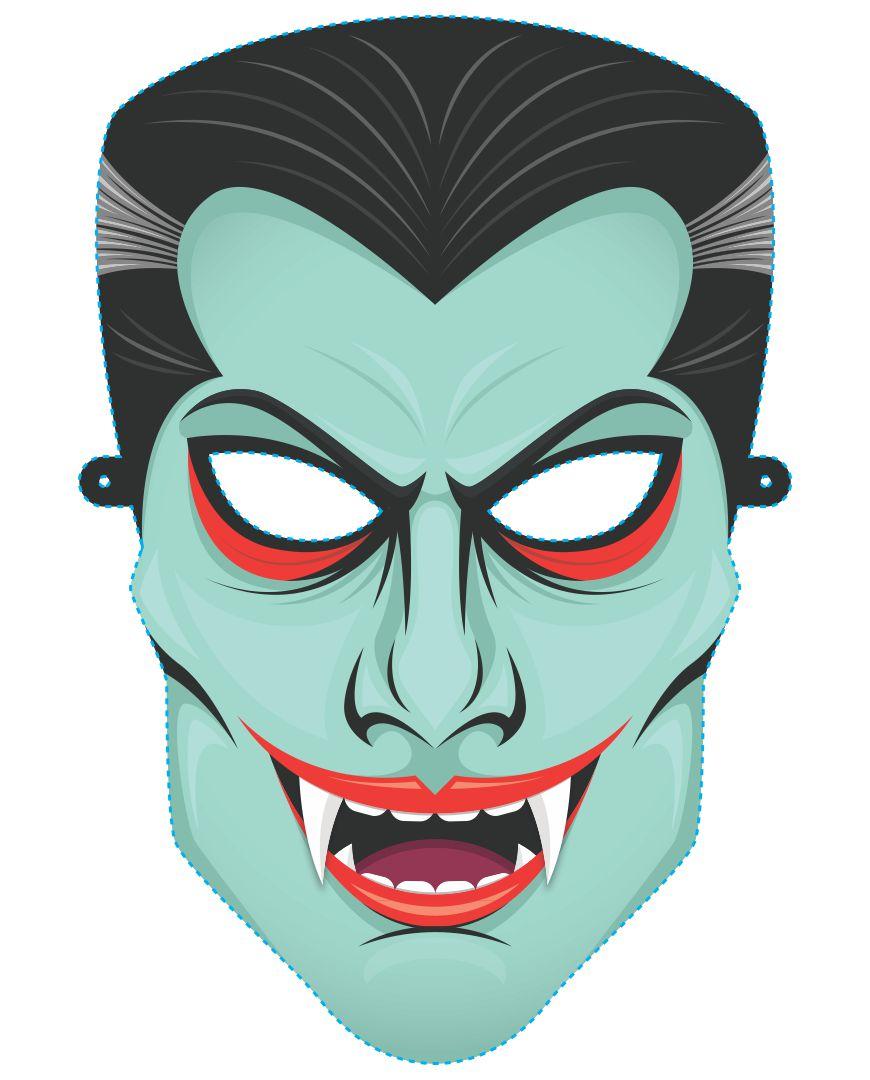 Scary Halloween Mask Templates Printable