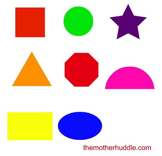 preschool colors and shapes 6 best images of printable shapes for toddlers colors 129