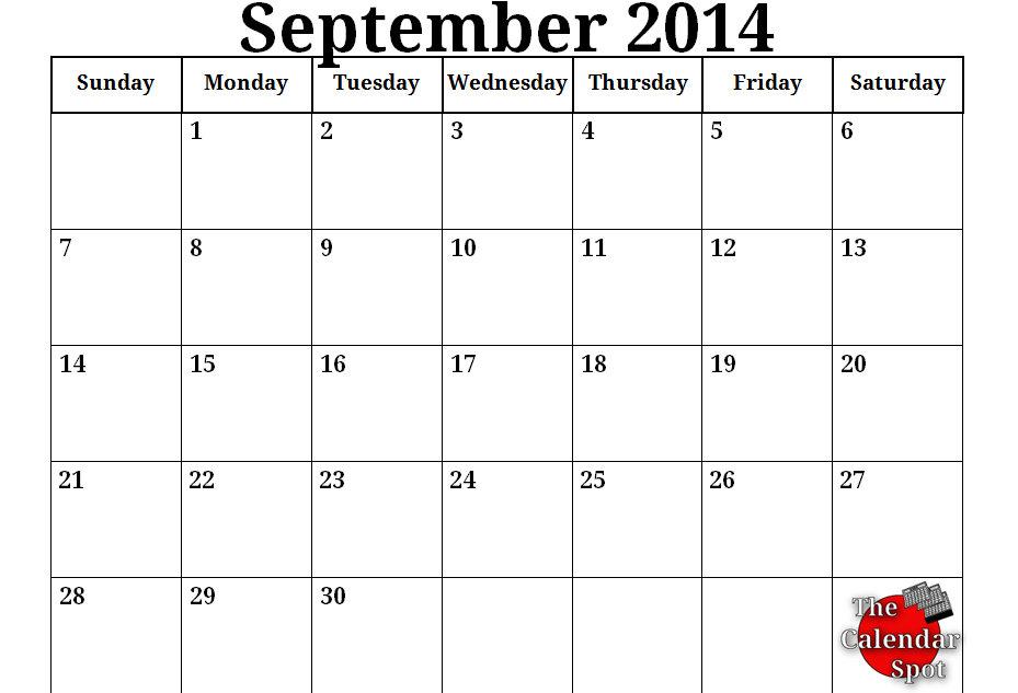November Calendar 2014 Printable : Best images of free printable calendar september