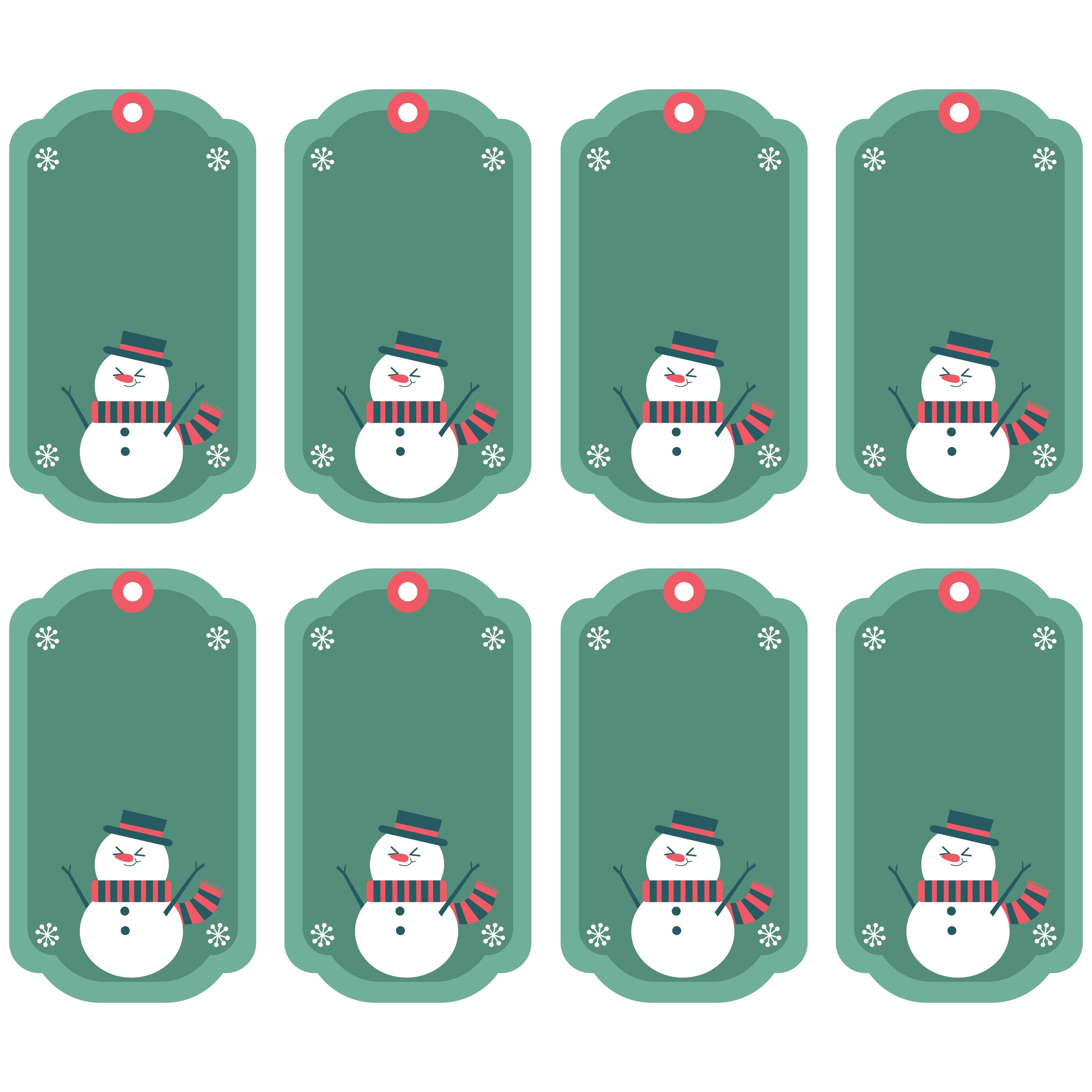 Snowman Gift Tags Printables