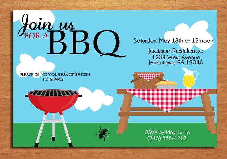 8 Images of Summer BBQ Invitation Printable