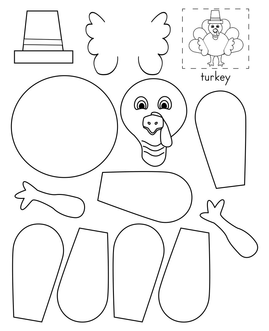 Thanksgiving Turkey Cut Out Craft