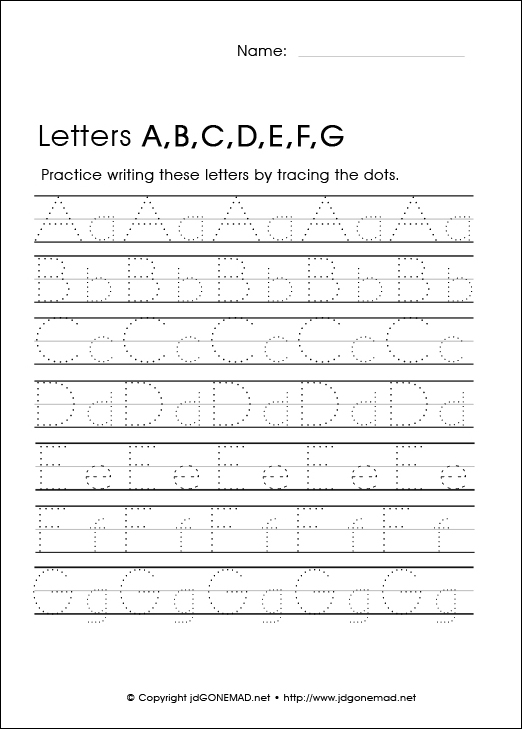 Number Names Worksheets alphabet printable worksheets free – Free Printable Alphabet Worksheets for Kindergarten
