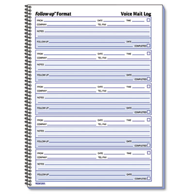 6 Images of Voice Mail Message Pad Printable