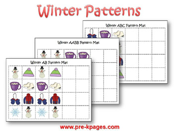 4 Images of Winter Patterns Printables
