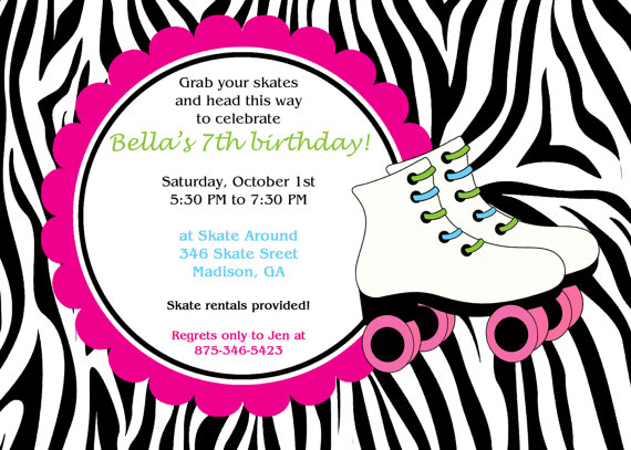 6 Images of Zebra Print Party Invitations Printable