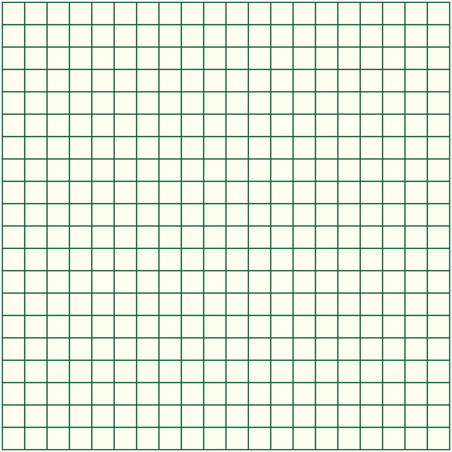 20 X 20 Graph Paper