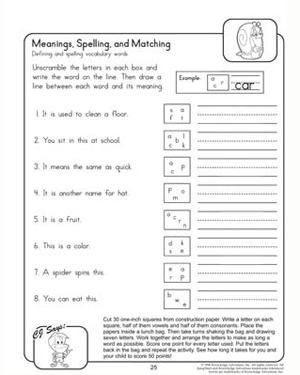 Printables Spelling Worksheets For 6th Grade free spelling worksheets for grade 1 scalien scalien