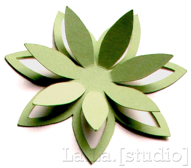 5 best images of 3d petals flowers templates printables for Paper cut out templates flowers