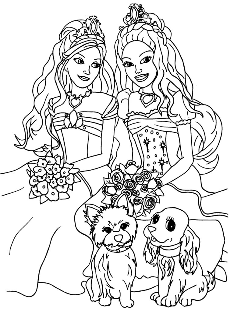 4 Images of Free Printable Barbie Coloring Pages