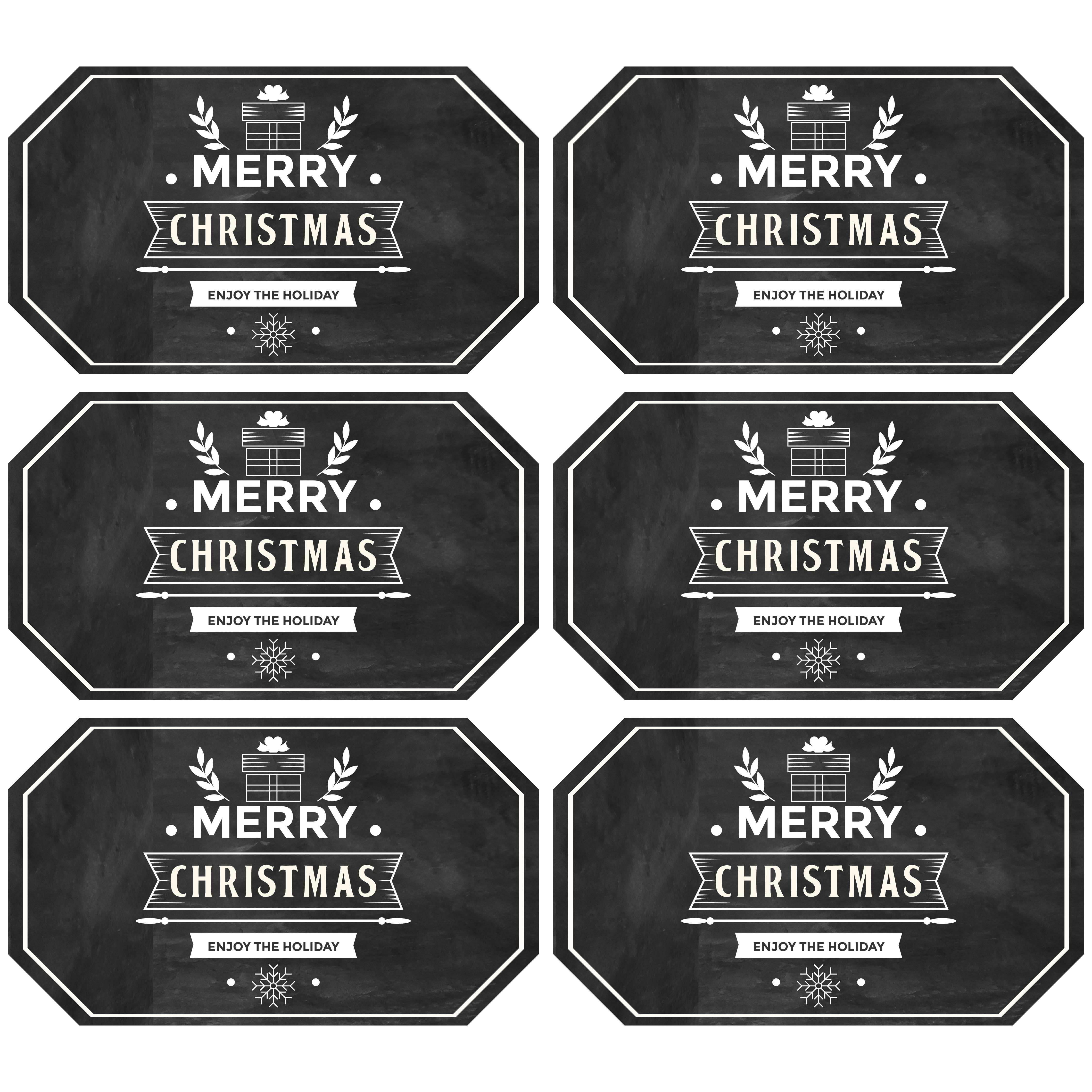 Chalkboard Christmas Printables Gift Tags