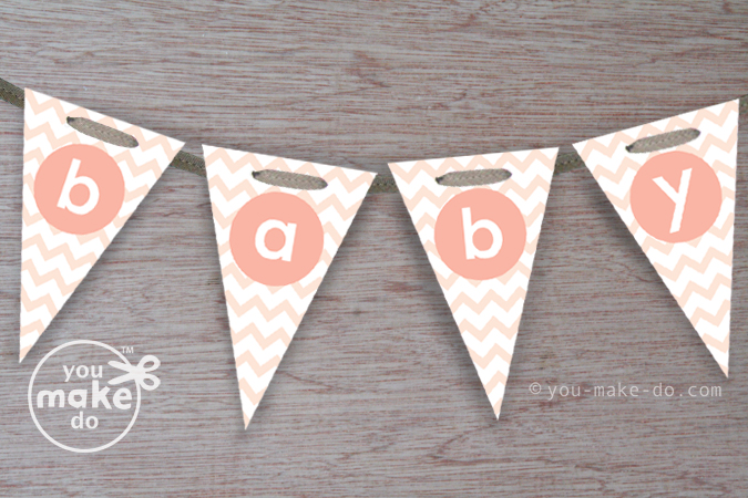 5 Images of Peach Baby Shower Banner Printable