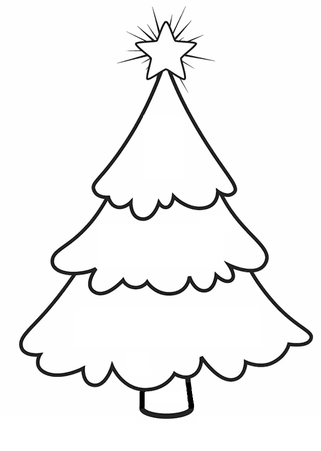 Best images of christmas tree printable coloring