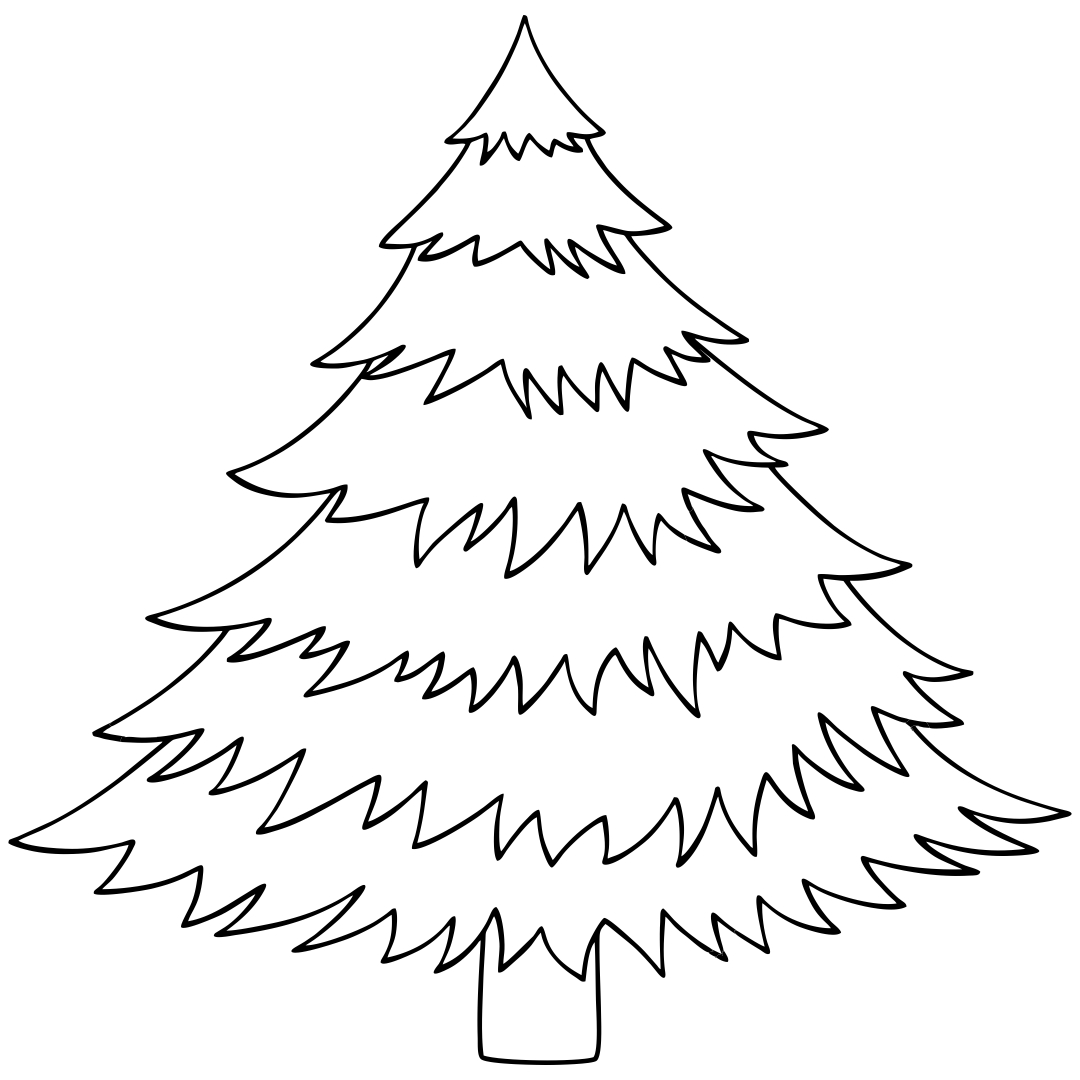 6 Images of Christmas Tree Printable