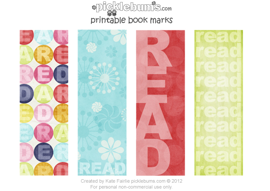 8 Images of Cool Printable Bookmarks For Books