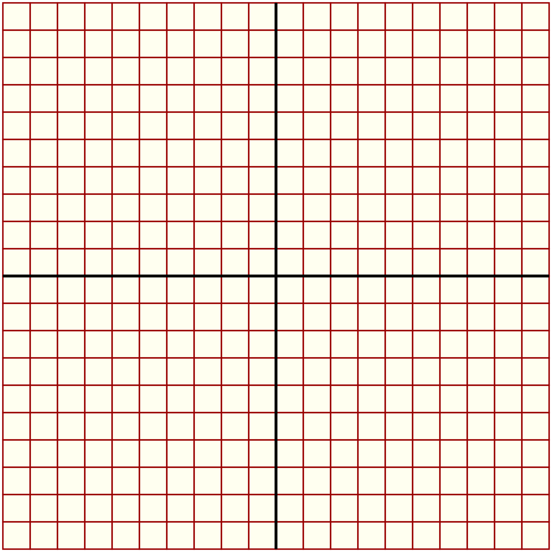 Coordinate Grid 20 X 20 Graph Paper