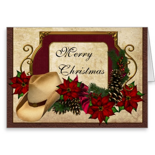 4 Images of Cowboy Free Printable Christmas Cards